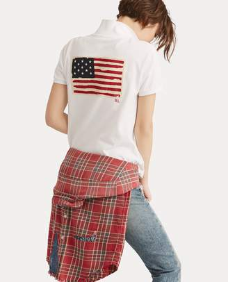 Ralph Lauren Classic Fit Flag Polo Shirt