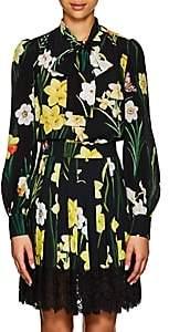 Dolce & Gabbana Women's Iris-Print Silk Tieneck Blouse
