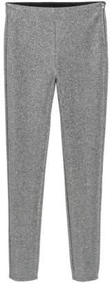 H&M Glittery Pants - Silver