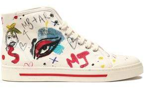 Marc Jacobs Printed Canvas High-Top Sneakers