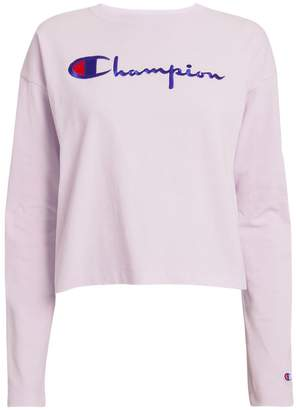 Champion Logo Crop Top