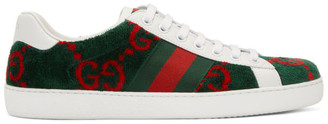 Gucci Green Velvet GG Sneakers