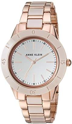 Anne Klein Women's AK/3160TNRG Rose Gold-Tone and Tan Ceramic Bracelet Watch