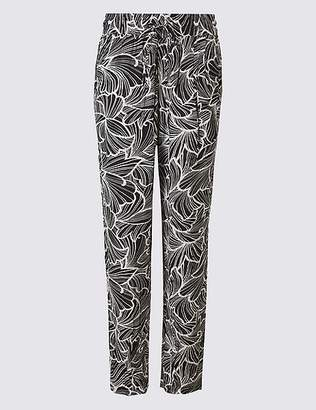 Marks and Spencer Floral Print Tapered Peg Trousers