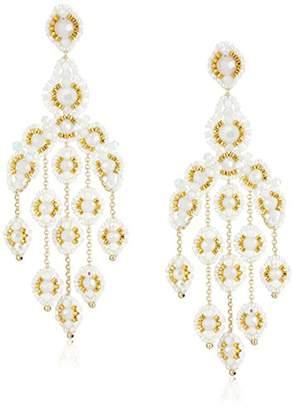 Miguel Ases Opalite Quartz Cascading Drop Earrings