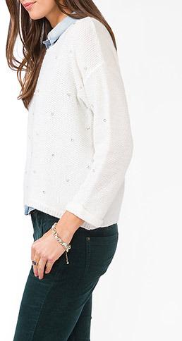 Forever 21 Rhinestoned Sweater