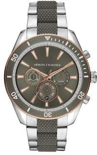 Armani Exchange Enzo Chronograph Two-Tone Stainless Steel Watch