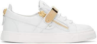 Giuseppe Zanotti SSENSE Exclusive White London Sneakers $770 thestylecure.com