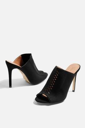 Topshop Womens Sasha Stretch Mules