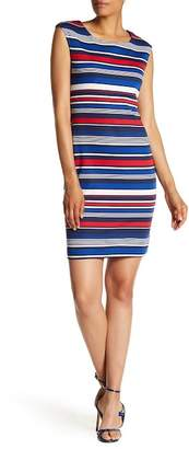 Connected Apparel Jersey Mid Length Sheath Dress