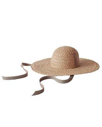 Janessa Leone Gaby Woven Straw Sun Hat w  Chin Tie 92b336225ef