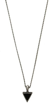 Emanuele Bicocchi Triangle Charm Sterling Silver Necklace - Mens - Silver
