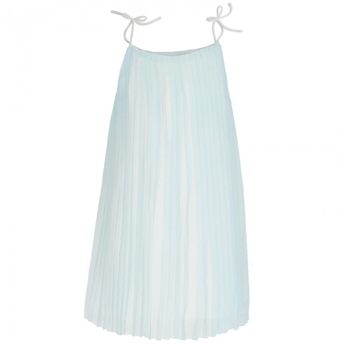 Chloé Green Silk Pleat Dress