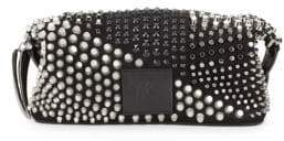 Giuseppe Zanotti Studded Leather Toiletry Bag