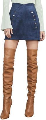 BCBGMAXAZRIA Ingrid Faux-Suede Mini Skirt