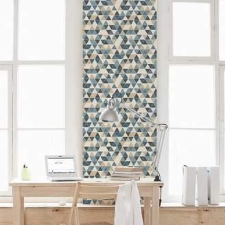 Wallums Wall Decor Triangles 48 L x 24 W Peel and Stick Wallpaper Tile