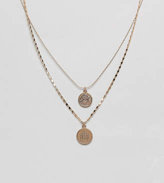 Aldo Adrendavia layering coin charm necklace in gold