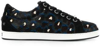 Jimmy Choo leopard lace-up sneakers