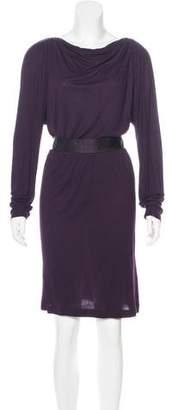 Lanvin Long Sleeve Midi Dress