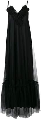 Gina ruched v-neck maxi dress