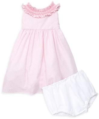Isabel Garreton Baby Girl's Swiss Dot Tie-Back Dress & Bloomer Set