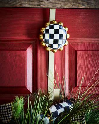 "Mackenzie Childs MacKenzie-Childs Courtly Check Wreath Hanger, 12"""