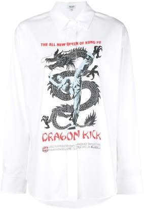 Kenzo Dragon Kick graphic shirt