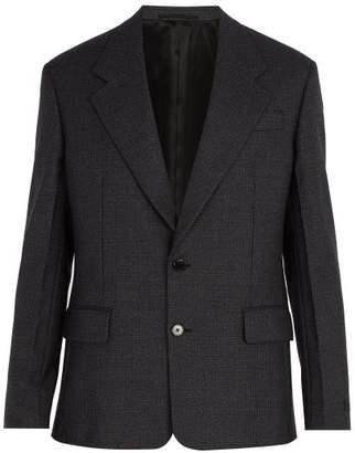 Prada - Micro Houndstooth Wool Blazer - Mens - Grey