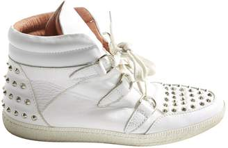 Sandro Albatorock White Leather Trainers