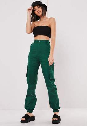Missguided Tall Green Plain Cargo Pants