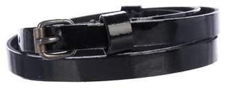 Lanvin Patent Leather Skinny Belt