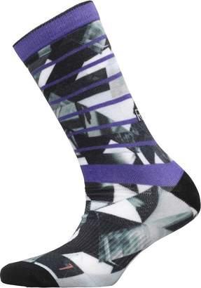 Reebok Active Enhanced Printed Crew Socks Grey/Team Purple