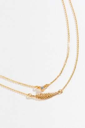 francesca's Ava Leaf Layered Choker - Gold