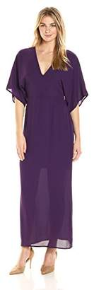 James & Erin Women's Wide Sleeve V-Neck Maxi