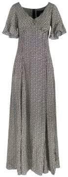 Marc Jacobs Redux Grunge Flower Chain Silk Maxi Dress