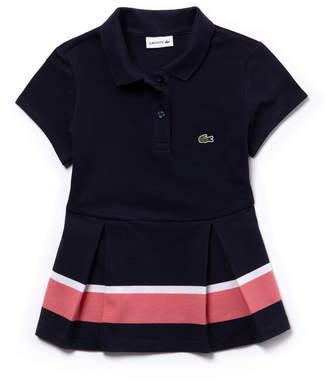 Lacoste (ラコステ) - GIRLS カラーブロックプリーツポロシャツ (半袖)