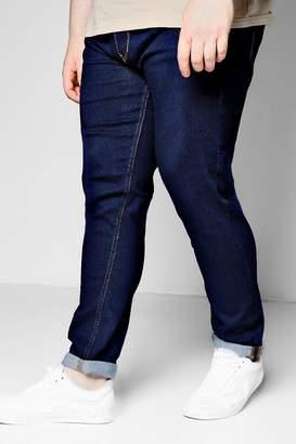 boohoo Big And Tall Dark Washed Indigo Skinny Fit Jeans