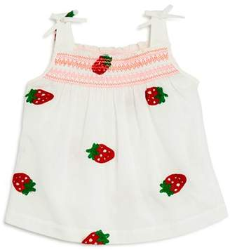 Design History Girls' Strawberry-Embroidered Top - Little Kid