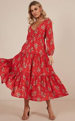 10bff65beff8 Showpo On The Record maxi dress in red floral - 6 (XS) Longer Dresses