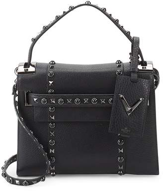 Valentino Women's Studded Leather Top Handle Bag