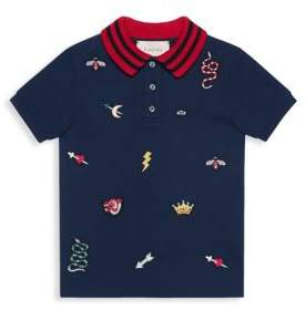 Gucci Little Boy's& Boy's Embroidered Patch Polo