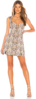 For Love & Lemons Brocade Tapestry Mini Dress