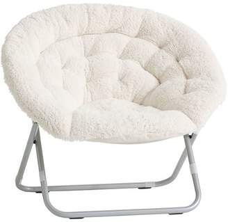 Pottery Barn Teen Sherpa Hang-A-Round Chair, Ivory
