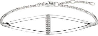Thomas Sabo Triangle sterling silver and diamond bracelet