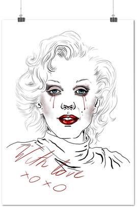Monroe Love Legend XO Celebrity Tear Matte/ Poster A1 | Wellcoda