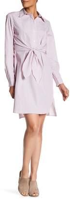 Max Studio Striped Shirt Dress