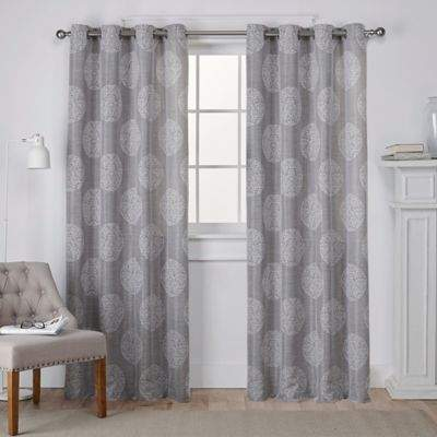 Akola 108-Inch Grommet Top Window Curtain Panel Pair in Ash Grey