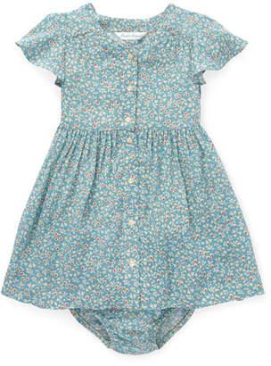 Ralph Lauren Childrenswear Woven Floral Dress w/ Bloomers, Size 6-24 Months