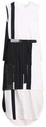 DKNY Paneled Silk-Twill And Satin Maxi Dress