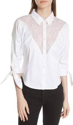 Opening Ceremony Lace Yoke Shirt
